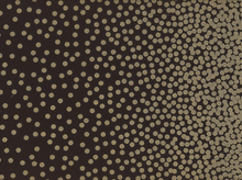 Confetti Border Pearlized Fabric Black Bronze