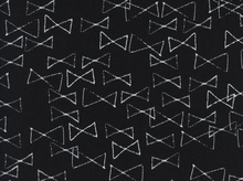 Cotton and Steel Black and White Bowties Cotton Fabric in Black by Rashida Coleman-Hale