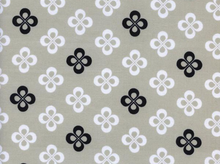 Cotton and Steel Black and White Clover Cotton Fabric in Grey by Melody Miller