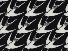 Cotton and Steel Black and White Flock Metallic Cotton Fabric in Black by Rashida Coleman-Hale