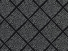 Cotton and Steel Black and White Lattice Dots Cotton Fabric in Black by Sarah Watts