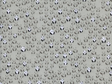 Cotton and Steel Black and White Panda Bebe Cotton Fabric in Cream by Alexia Abegg