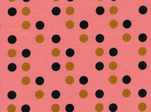 Cotton and Steel Kim Kight Lucky Strikes Dime Store Dot Coral