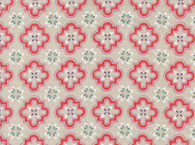 Cotton and Steel Sarah Watts Honeymoon Porch Tile Coral