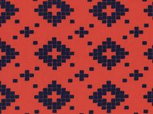 Cotton & Steel Alexia Abegg Mesa Tiles Coral