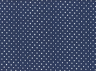 Cozy Cotton Mini Dots Flannel Navy