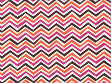 Crazy Stripe Cotton Fabric Orange