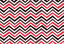 Crazy Stripe Cotton Fabric Red