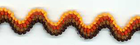 Crewel Ric Rac Orange and Brown