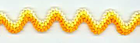 Crewel Ric Rac Orange Yellow and White