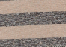 Crochet Stripe Knit Fabric Pink & Grey