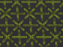Cross Flowers Cotton Fabric Charcoal