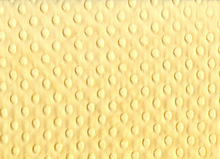 Cuddle Dimple Dot Minky Fabric Yellow