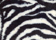 Cuddle Fuzzy Lux Fabric Zebra