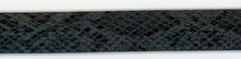 Dark Grey Snake Skin Tape Trim 3/4""