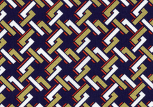 Dear Stella Links Cotton Fabric Metallic Gold and Navy