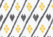 Dear Stella Nairobi Heart Ikat Cotton Fabric Cream