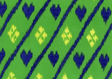 Dear Stella Nairobi Heart Ikat Cotton Fabric Green