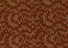 Dear Stella Squiggles Cotton Fabric Brown