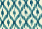 Debra Ikat Linen Home Fabric Peacock