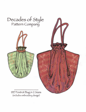 Decades of Style 1917 Foxtrot Bag #1701