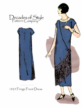 Decades of Style 1925 Fringe Front Dress #2501