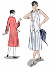 Decades of Style 1925 Zig Zag Dress Pattern Size A, B or C #2502