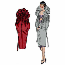 Decades of Style 1927 Cloud Cape Size A, B or C #2701