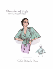 Decades of Style 1930's Butterfly Blouse #3005