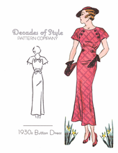 Decades of Style 1930's Button Dress #3007