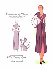 Decades of Style 1930's Crossing Coat #3010