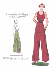Decades of Style 1930's Sweetheart Overalls #3008