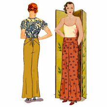 Decades of Style 1930 Salon Trousers Size A, B or C #3003