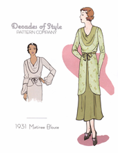Decades of Style 1931 Matinee Blouse #3102
