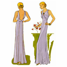 Decades of Style 1933 Evening Gown Size A, B or C #3301