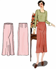 Decades of Style 1936 Shaped Seam Skirt #3004