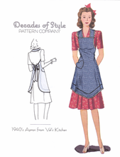 Decades of Style 1940's Apron from Val's Kitchen #4001