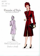 Decades of Style 1940's Claremont Coat #4009
