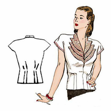 Decades of Style 1940's Girl Friday Blouse #4005