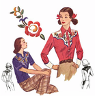 Decades of Style 1940's Rodeo Gal Shirt #4008