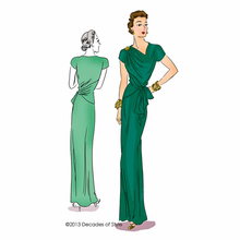 Decades of Style 1940s Point Made Gown Pattern #4011