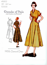 Decades of Style 1950's Diamond Dress #5002