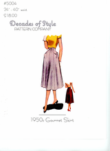 Decades of Style 1950's Gourmet Skirt #5004