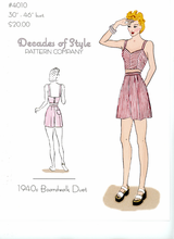 Decades of Style Decades of Style 1940's Boardwalk Duet #4010