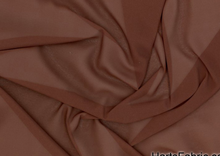 Defina Stretch Chiffon Fabric Brown