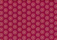 Denyse Schmidt Chicopee Ziggy Medallion Cotton Fabric Red