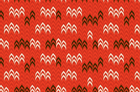 Desert Daydream Knit Print Fabric By Anthology Fabrics Red
