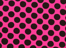 Dot Challis Fabric Pink