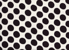 Dot Challis Fabric White