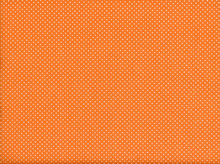 Dot Cotton Fabric Orange
